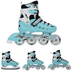 f6f8a94ea Łyżworolki, wrotki, łyżwy hokejowe, wrotko-rolki 4w1 Nils Extreme NH10905  rozmiar 31